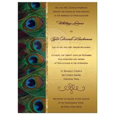 peacock invitations wedding invitation peacock feathers gold