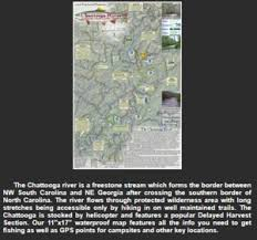 Chattooga River And Fish Map