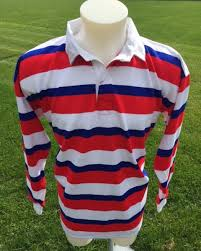 uglies collared rugby shirt blue red
