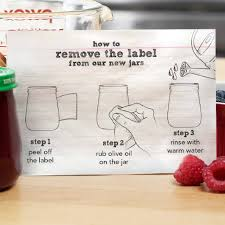 how to remove labels from glass it works