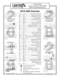 School Calendar Template 2015 2020 Lawton Public Schools