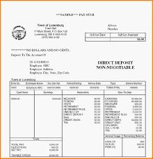 11 Sample Payroll Stub Letterhead Template Sample