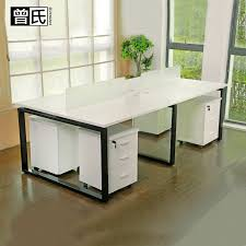 deck screen desk office furniture. Staff Desk Simple Modern 2 4 6-seat Table And Chair Combination Staff  Deck Screen Office Furniture U