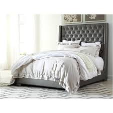 Ashley Furniture Tufted Bed Furniture Silver Bedroom Bed Ashley ...