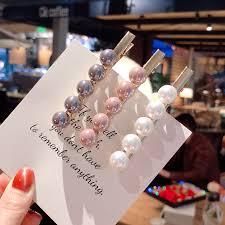 <b>2019 Fashion</b> Imitiation <b>Pearl</b> Hair Clip Barrettes for <b>Women</b> Girls ...