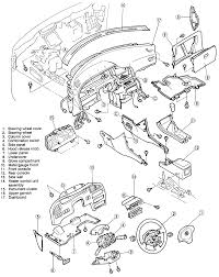 7 exploded view of the dashboard 1993 97 mx 6