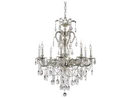 trans globe lighting crystal traditions antique nickel eight light 30 wide chandelier