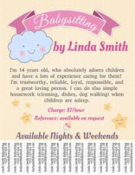 Babysitting Flyer Template Baby Sitting Flyers Magdalene Project Org