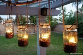Diy mason jar lighting Diy Decorative Glass Alexan Eav How To Make An Outdoor Mason Jar Chandelier Alexan Eav
