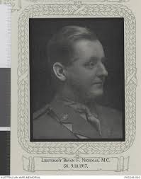 Studio portrait of Lieutenant Byron Fitzgerald Nicholas, 24th Battalion of  Trafalgar, Victoria. ... | Australian War Memorial
