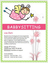 Sample Babysitting Flyer Pin By Alle Brean On Summer Projects Babysitting Flyers