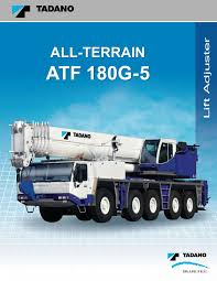Tadano Atf 110g 5 Load Chart Crane Load Charts And Corporate Brochures 2012 Tdkv