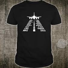 Ipa is a phonetic notation system that uses a set of symbols to represent each distinct sound that exists in human spoken language. Phonetic Alphabet Pilot Airplane The Original Shirt
