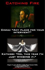 best images about catching fire johanna mason catching fire interview foreshadowing just winging it