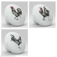 Handmade Rooster Kitchen Decor Knob, Pull, Handle in Wood for ...