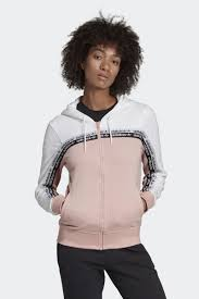 <b>Толстовка</b> adidas Tt <b>Hooded</b>, цвет белый, светло-<b>розовый</b> ...
