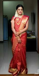 south indian bride in red saree southindianbridalsaree bridalsaree