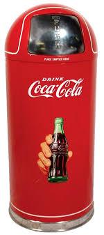 Coca Cola Kitchen Items 0382 Coca Cola Metal Trash Can W Coke Trash Can Coca  Cola