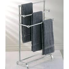 standing towel rack brushed nickel. Standing Towel Holder Free Rack Polished Nickel Brushed K