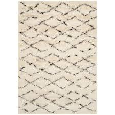 white wool shag rug. Brilliant Rug Safavieh Casablanca Shag WhiteBrown 4 Ft X 6 Area Rug For White Wool A