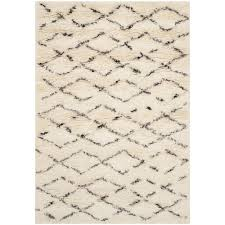 safavieh casablanca white brown 4 ft x 6 ft area rug