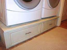 diy washer dryer pedestal with drawers. Delighful Pedestal Finally Putty Nail Holes Sand And Paint I Used Almond Color Spray Paint  From Home Depot Finished It With A Clear Gloss Spray With Diy Washer Dryer Pedestal Drawers 6