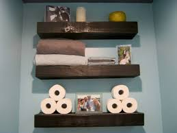 thrifty decor diy floating shelves perfect for the space between the shower and