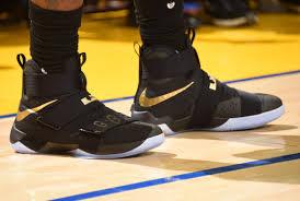 OAKLAND, CA - JUNE 13: The Sneakers Of LeBron James #23 The  Nice Kicks