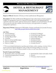Hotel Manager Cv Template Job Description Example Resume