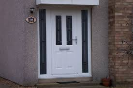 white craftsman front door. White Front Door With And Side Lights Craftsman Cladding 23