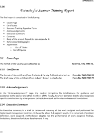 Training Report Cover Page Guidelines For Summer Training Report Pdf