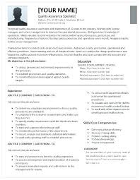 Sample Qa Analyst Resume New Resume Objective For Quality Assurance Resume Pro