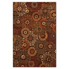 rugs sonoma tyler 8 x 10 area rug red and chocolate