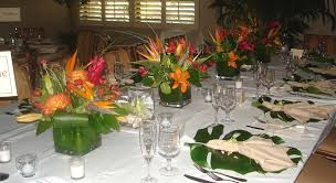 Image of: cubes for tropical centerpieces