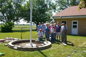 image of flagpole with landscaping flag pole ideas camping