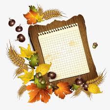 autumn thin vintage write autumn message paper write thin frame autumn vector png