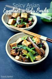 y asian eggplant tofu bowls