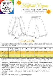 Pants Patterns Magnificent Daffodil Capri Pants Pattern Faux Wrap Ruffle Pants 48480 Years
