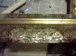 picture of adding the gold leaf