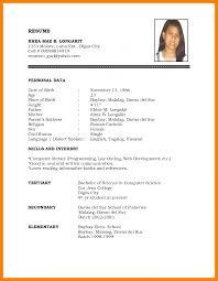 Best Resume Format Resume Pin By Avellen Mazzie On Anime Sample Resume Format