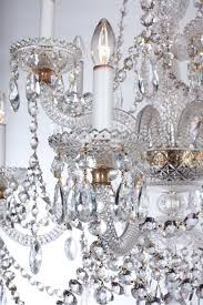 large pair of fine parker and perry english clear crystal glass chandeliers for at 1stdibs