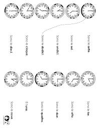 time worksheet italian | Orologio | Pinterest | Worksheets