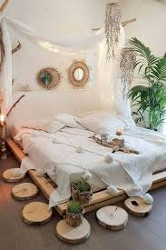 boho chic design bedroom decorating