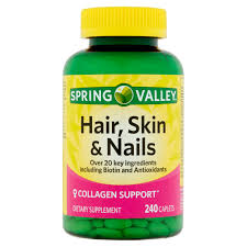 nature s bounty optimal solutions hair skin and nails 80 gummies with biotin strawberry flavored walmart