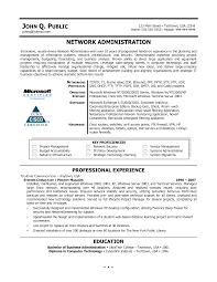 resume template of entry level network administrator resume - Administrator  Resume Samples
