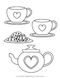 _C2_A9 2015 Nicole Barton 009 tea time coloring pages for girls ( item 009 ) on coloring set for girls