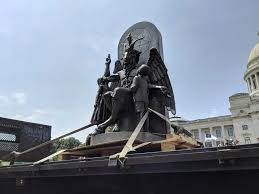 Satanic Temple's <b>Baphomet</b> statue travels to Arkansas Capitol ...