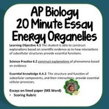 ap biology daily lesson plans ap biology ap  ap biology essay energy transforming organelles