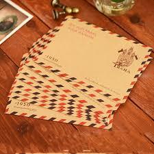 Photo Invitation Postcards Us 1 17 27 Off 10pcs Kraft Paper Envelopes Wedding Letter Invitation Postcards Cover Message Paper Letter Envelopes Boda School Stationery In Paper