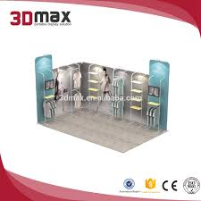 Fashion Booth Design 3x3m Potable Display Rack Fashion Curved Custom Trade Show Booth Design Buy Displays Exhibition Advertising Product On Alibaba Com